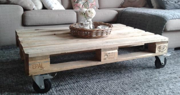 Meubels maken van pallets bied ongekende mogelijkheden - Wat op een salontafel ...