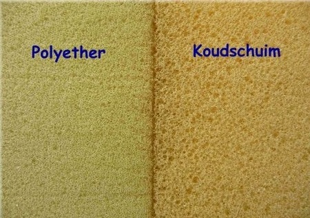 polyether en koudschuim