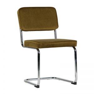 Groene fluwelen stoel