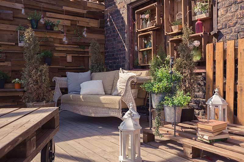 Loungeplek in de tuin