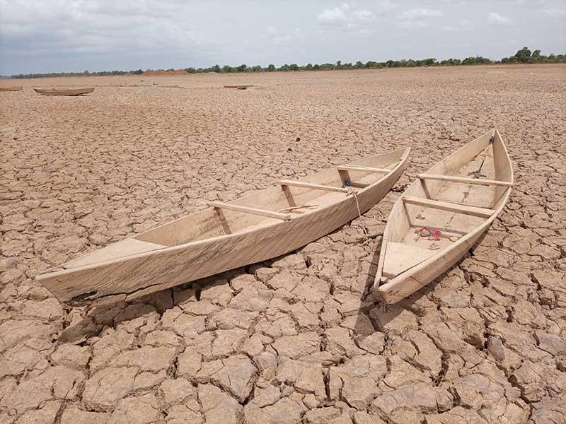 boten in de woestijn